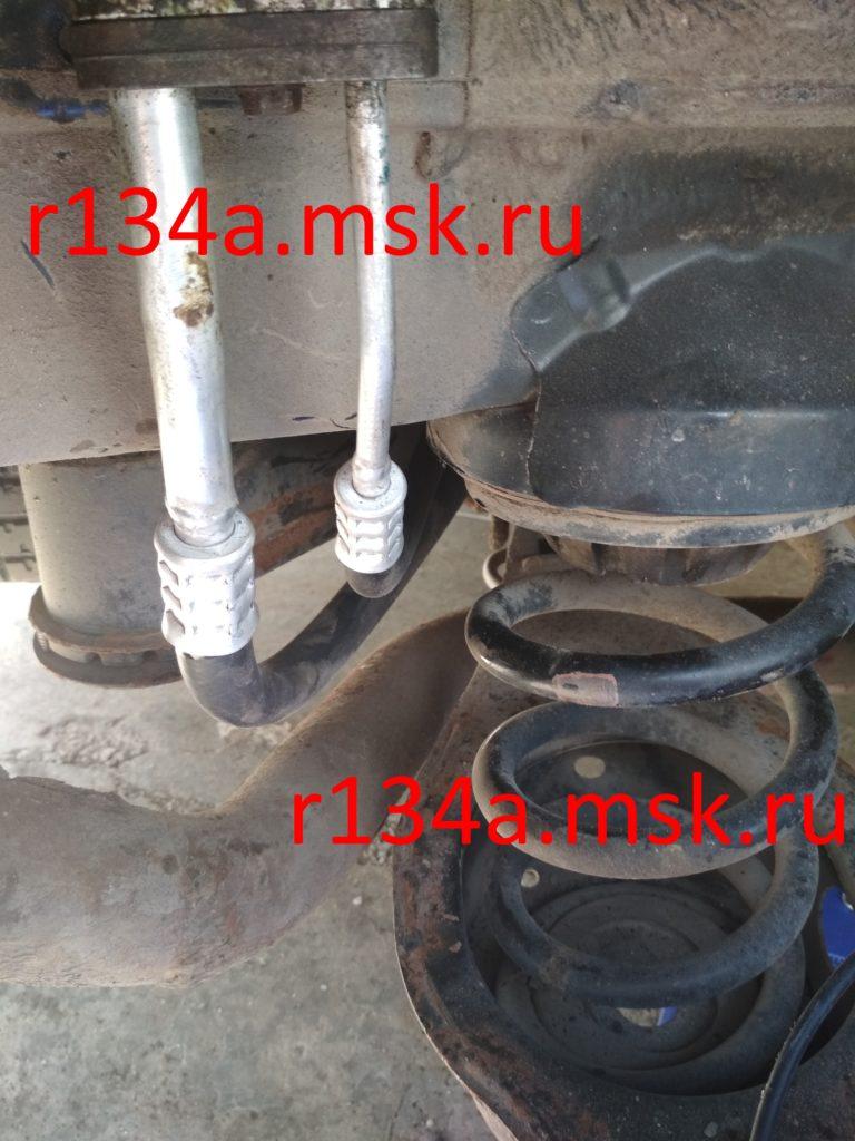 Ремонт и замена заднего контура автокондиционера