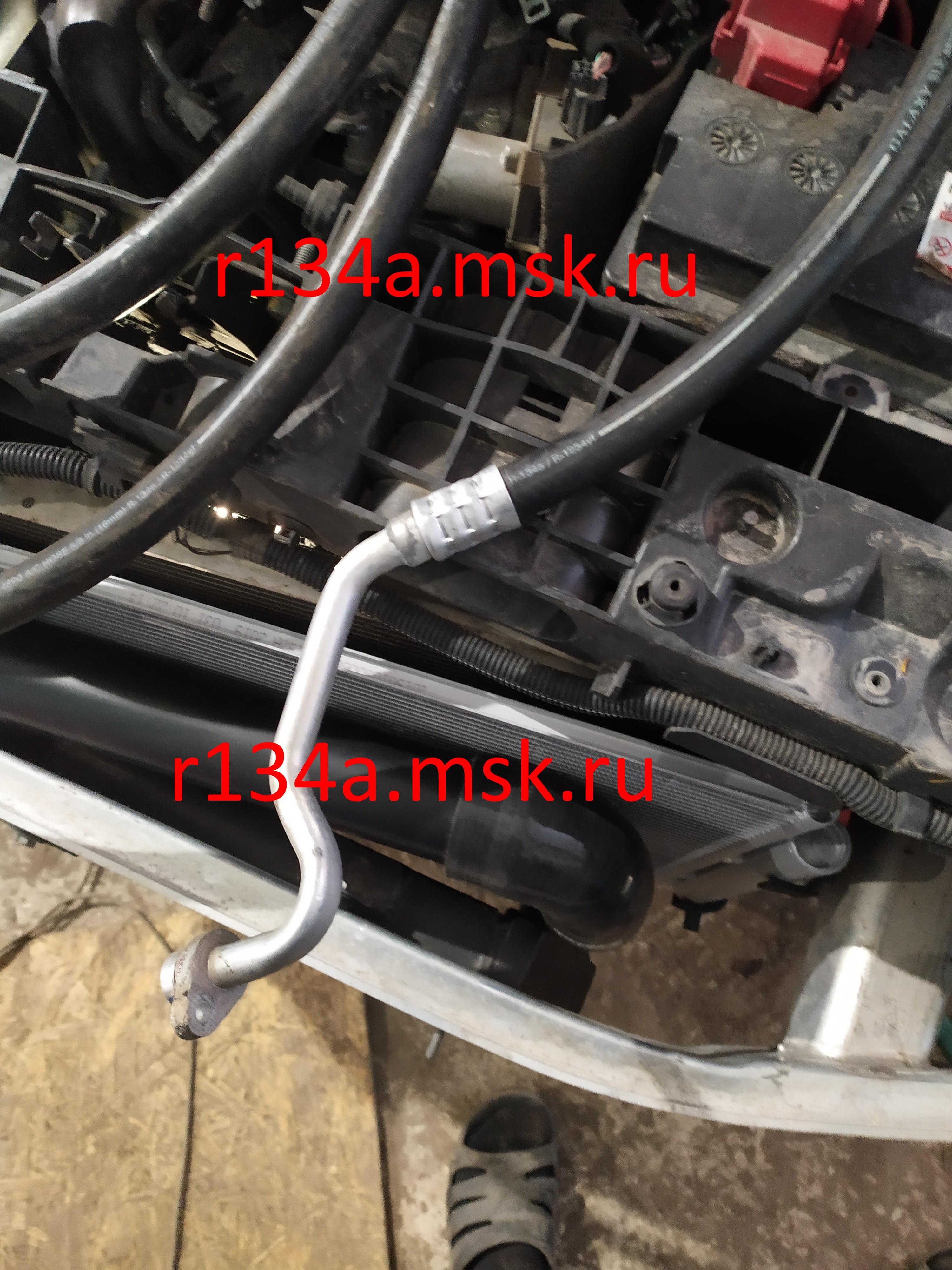 Заправка и ремонт автокондиционера Рено. Ремонт трубок кондиционера RENO - работа май 2019 год.