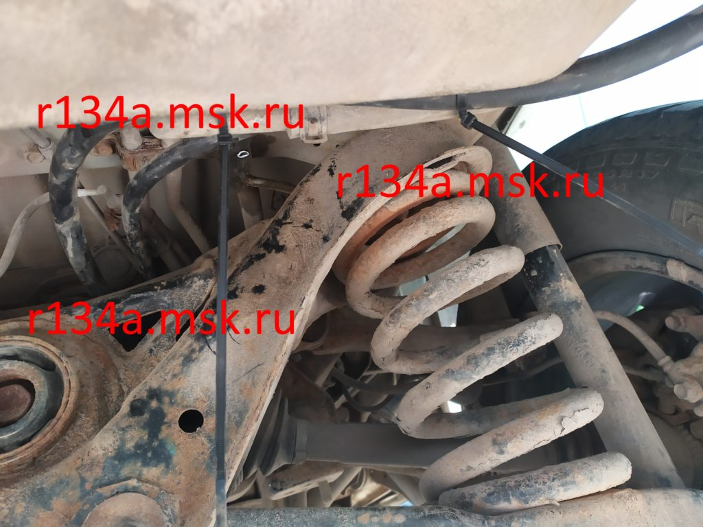 Заправка и ремонт автокондиционера Митсубиси Паджеро. Восстановление заднего контура автокондиционера Mitsubishi Pajero.